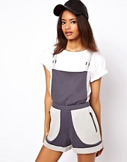 ASOS Short Dungaree in Jersey