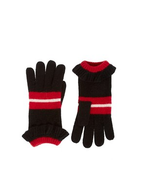 Image 1 ofAlice Hannah Ruffle Stripe Gloves