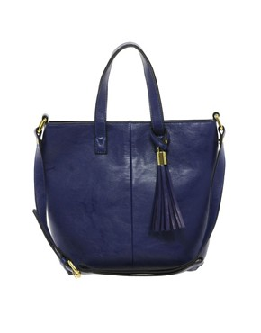 Image 1 ofASOS Mini Tote Bag With Tassel Detail