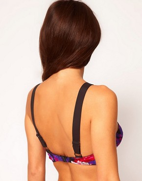 Image 2 ofASOS Floral Padded Longline Fuller Bust Bikini Top D-F