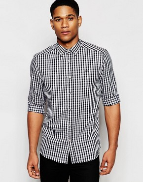 !SOLID Monochrome Check Shirt In Regular Fit
