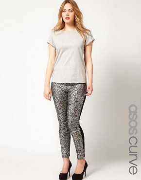 Image 1 ofASOS CURVE Leggings With Embellished Panels