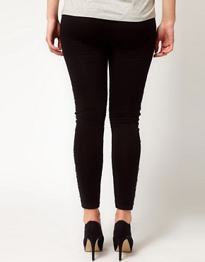Image 2 ofASOS CURVE Leggings With Embellished Panels
