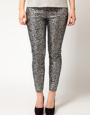 Image 4 ofASOS CURVE Leggings With Embellished Panels