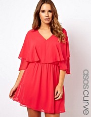 Vestido con capa de ASOS CURVE