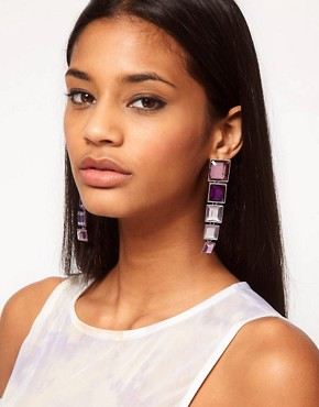 Image 2 ofASOS Articulated Gem Square Drop Earrings