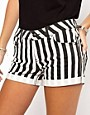 Image 3 ofOnly Stripe Denim Shorts