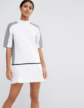 Nike Premium Court Sweat Dress With Drop Waist