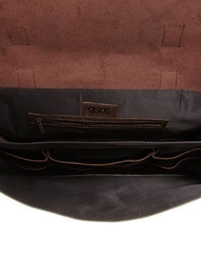 Image 2 ofASOS Canvas and Leather Satchel