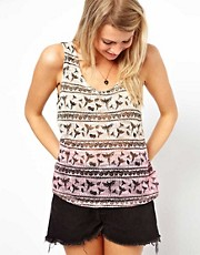 ASOS Dip Dye Printed Vest