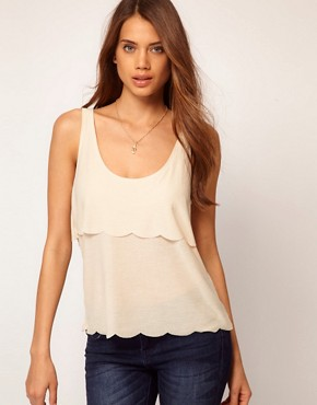 Image 1 of ASOS Vest with Double Scallop