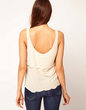 Image 2 of ASOS Vest with Double Scallop