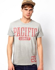 Jack & Jones  T-Shirt mit Pacific-Aufdruck
