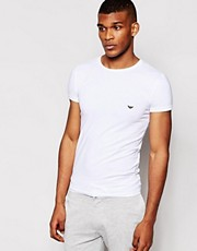 Emporio Armani - T-shirt girocollo in cotone elasticizzato