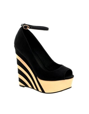 ASOS PARTY Wedges  :  holiday wedge black party
