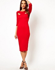 TFNC Midi Pencil Dress With Cut Outs
