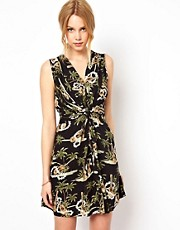 Traffic People Knotted Dress In Shipwrecked Print