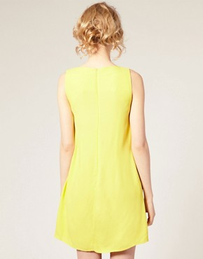 Image 2 ofASOS Shift Dress with Ruffle Front
