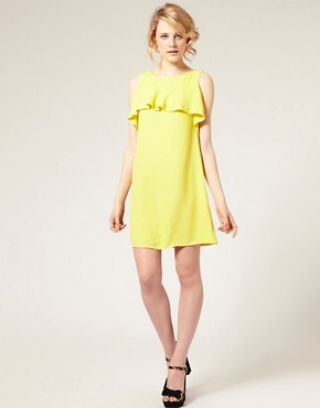 Image 4 ofASOS Shift Dress with Ruffle Front