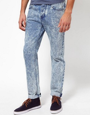 Image 1 ofASOS Slim Jeans In Acid Wash