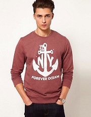 ASOS Sweatshirt With Anchor Print
