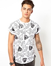 River Island T-Shirt with Diamond Print