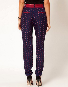 Image 2 ofOasis Foulard Print Trouser
