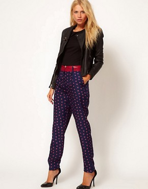 Image 1 ofOasis Foulard Print Trouser