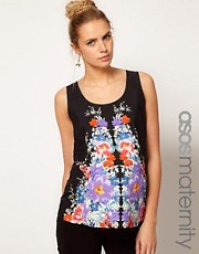 ASOS Maternity Exclusive Tank In Floral Print