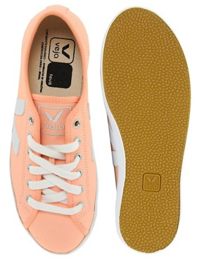 Image 2 ofVeja Taua Peach Leather Trainers