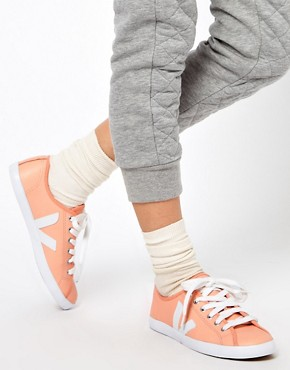 Image 3 ofVeja Taua Peach Leather Trainers