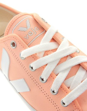 Image 4 ofVeja Taua Peach Leather Trainers