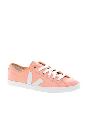 Image 1 ofVeja Taua Peach Leather Trainers