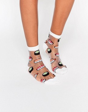 ASOS Sheer Sushi Ankle Socks