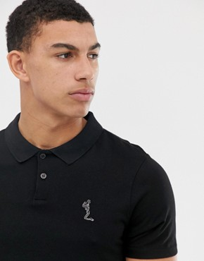 Religion Polo Shirt With Curved Hem