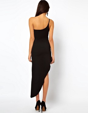 Image 2 ofASOS Maxi Dress With Asymmetric Hem