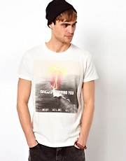 Jack &amp; Jones T-Shirt With Neon Palm Tree