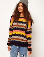 ASOS Jumper In Mixed Stripes