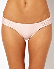 Seafolly Ballerina Lila Ruched Side Bikini Brief