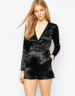 BCBGeneration Lazel Playsuit in Black