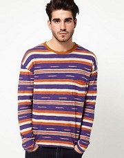 Levis Made & Crafted Long Sleeve Top Stripe