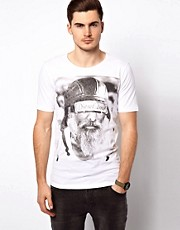 Diesel - Shave Beared - T-shirt con stampa fotografica