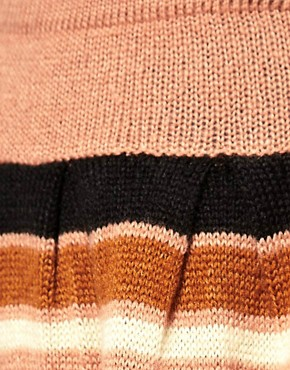 Image 3 of ASOS Skater Skirt with Aztec Pattern