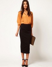 ASOS Ponte Midi Pencil Skirt