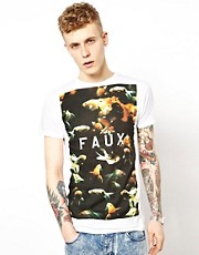 Friend or Faux T-Shirt with Goldfish Print