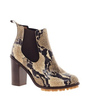 Image 1 ofASOS AEROPLANE Chelsea Leather Ankle Boots