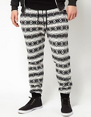 Diesel - Jogger con stampa Fair Isle