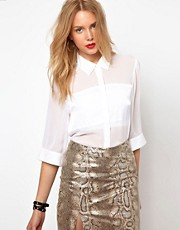 Lavish Alice Blouse With Crop Sleeve
