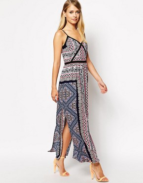 Oasis Aztec Scarf Maxi Dress