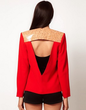 Image 1 ofAqua Spineless Cork Panel Jacket